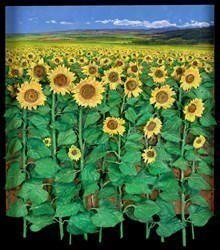 Campo Girasole by Ramon Vila -  sized 30x35 inches. Available from Whitewall Galleries